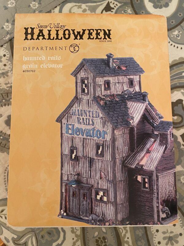 Dept 56 Haunted Rails Grain Elevator Snow Village Halloween