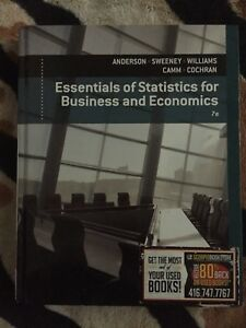 Essentials for statistics for business and economic 7th edition