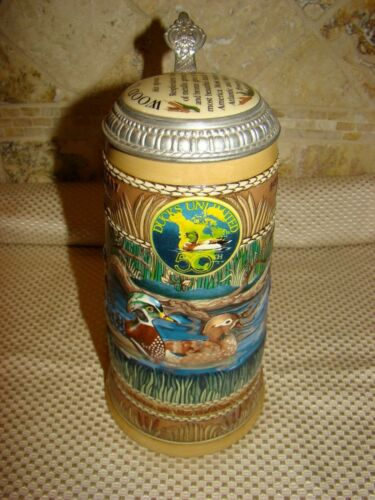 Ducks Unlimited 50th WOOD DUCK The Waterfowl Series 1987 1st Edition Stein