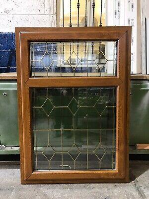 Second Hand UPVC Window, Golden Oak, 850mm Wide By 1190mm Height (W4968)