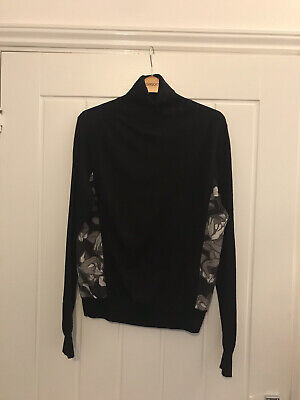 paul smith black label Sz L 100% Wool Thin Knit polo neck jumper £££