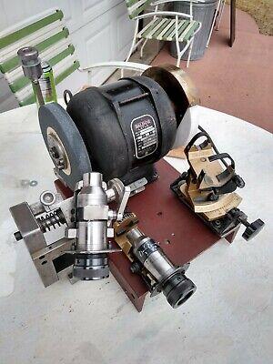 Nice Darex Precision Drill Sharpener W Chucks Baldor Dental Motor Etc..