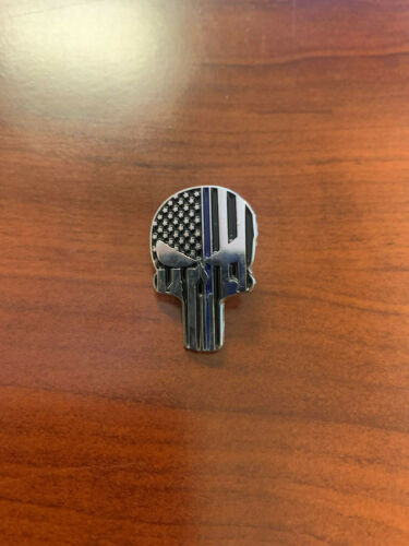Thin Blue Line Punisher Pin