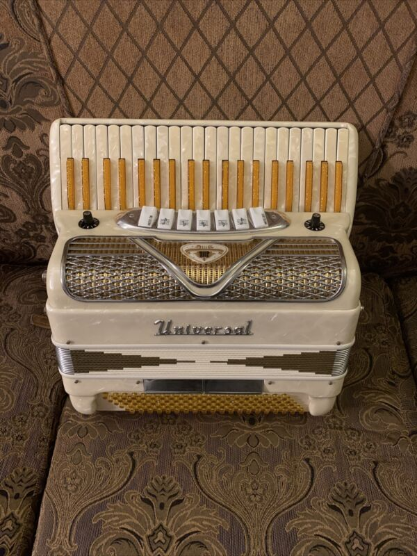 "Extremely Rare!!!! - 17"" Universal Accordion - 120 Bass - Brand & Serial #14229"