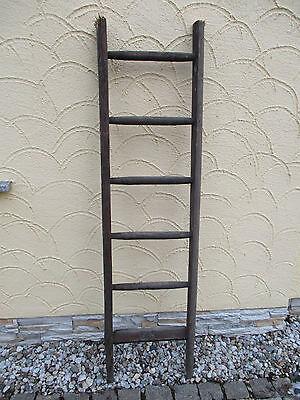 alte Holzleiter(87) Deco Blumenampel Baumleiter Handtuchhalter Kleiderhalter