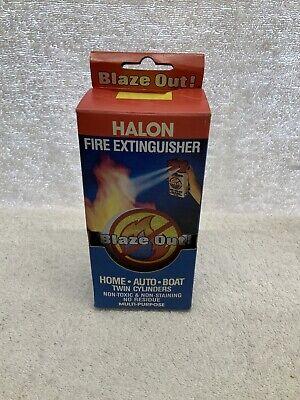 Rare Vintage Compact Portable Halon Fire Extinguisher 12111301 Flam-x Nip Vhtf