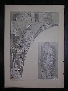 Alfons MUCHA figures décoratives Planche N° 39 - France - Type: Lithographie Authenticité: Original Genre: Art Nouveau - France