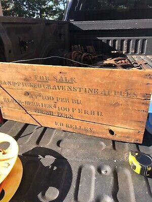 "vintage wooden sign For Sale apples & elderberries F D Kelley 29/13"" VT origin"