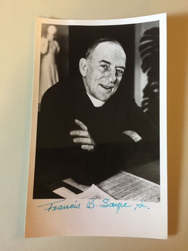 Vintage Francis B Sayre Jr Signed 5x8 Photo Dean Washington National Cathedral