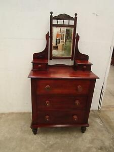 C43056 Vintage Pine Victorian Duchess Dressing Table Drawers Unley Unley Area Preview