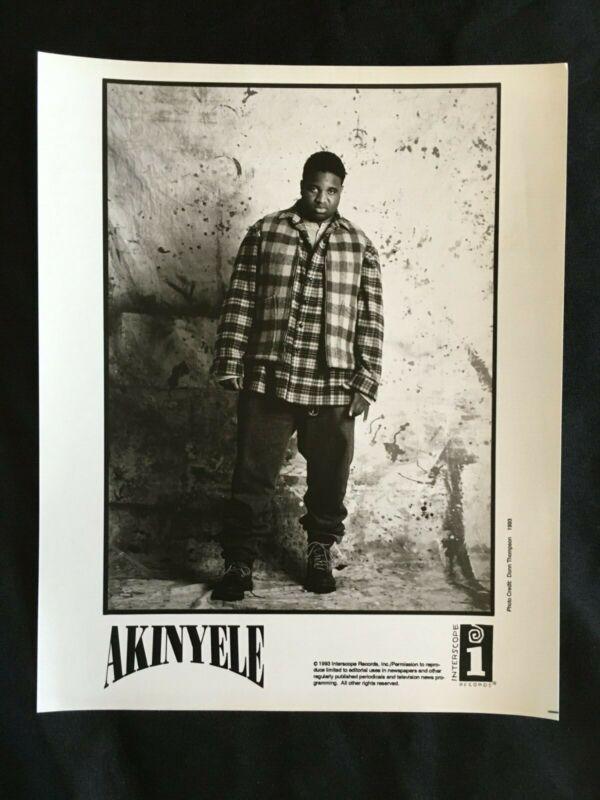 1993 AKINYELE Rapper INTERSCOPE Records HIP HOP Press Kit w/Photo