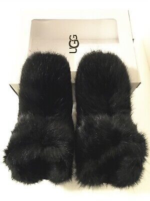 NIB Authentic UGG Amary Fluffy Black Women's Slippers Shoes Size 9