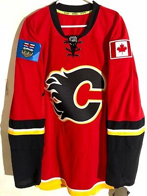6a5b2b0d1bd Reebok Authentic NHL Jersey Calgary Flames Team Red sz 50