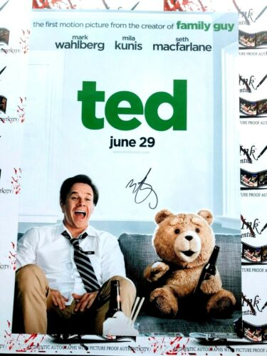 Mark Wahlberg JSA Autographed 12x18 Ted Movie Poster Photo RACC Seth McFarlane
