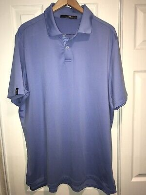 26 Rugby (Mens Size XL RLX by Ralph Lauren Solid Blue Rugby Polo Shirt C26)