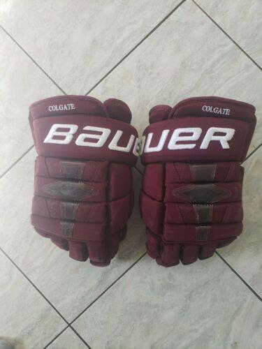 Bauer 1N Colgate pro stock hockey gloves, 14s