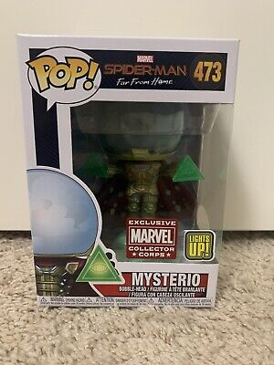 Funko Pop Marvel Mysterio Light Up #473 Marvel Spiderman Collector Corps Excl.