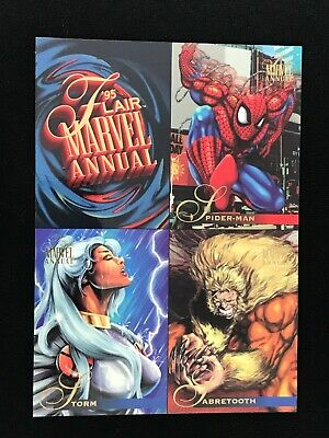 1995 FLAIR MARVEL ANNUAL TRADING CARD UNCUT PROMO SHEET SPIDER-MAN