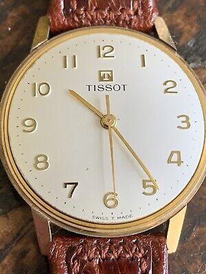 Good Working Vintage 9ct Gold Tissot Gents Wristwatch Birmingham 1965