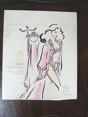 BARBIE Satin Dreams  FASHION 1993 COLLECTORS EDITION CLASSIQUE SAMPLE & SIGNED