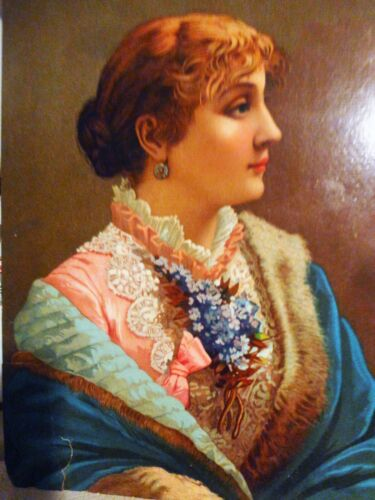 """HUGE ANTIQUE [ THE GREAT ATLANTIC & PACIFIC TEA CO.] TRADE CARD 7 1/2 """" by 10 """""""