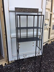 Grey/dull black metal washroom/bathroom storage shelving unit  London Ontario image 3