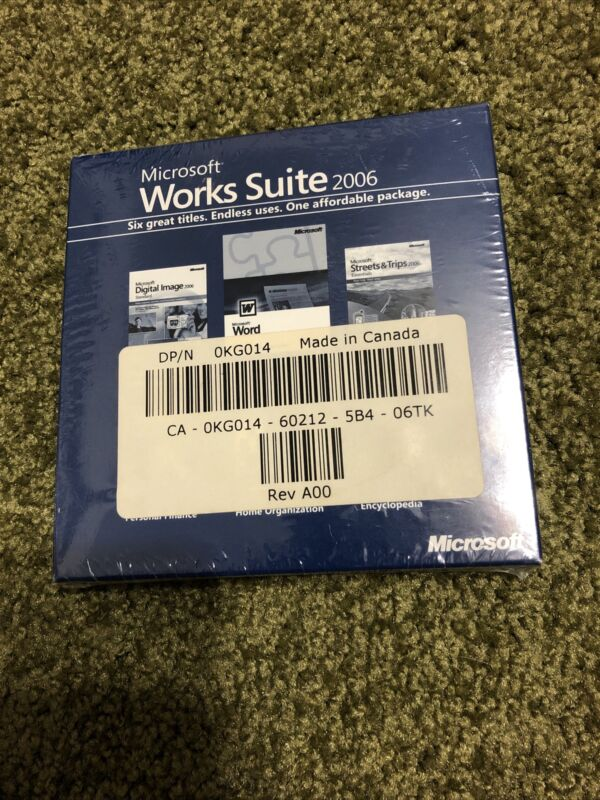 Microsoft Works Suite 2006 Brand New Factory Sealed