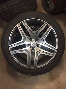 P265/45R20 Mercedes wheels and tires