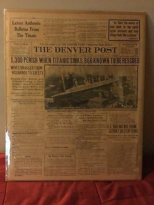 FIRST REPORT - April 16, 1912 - Titanic Sinks - Denver Post Newspaper