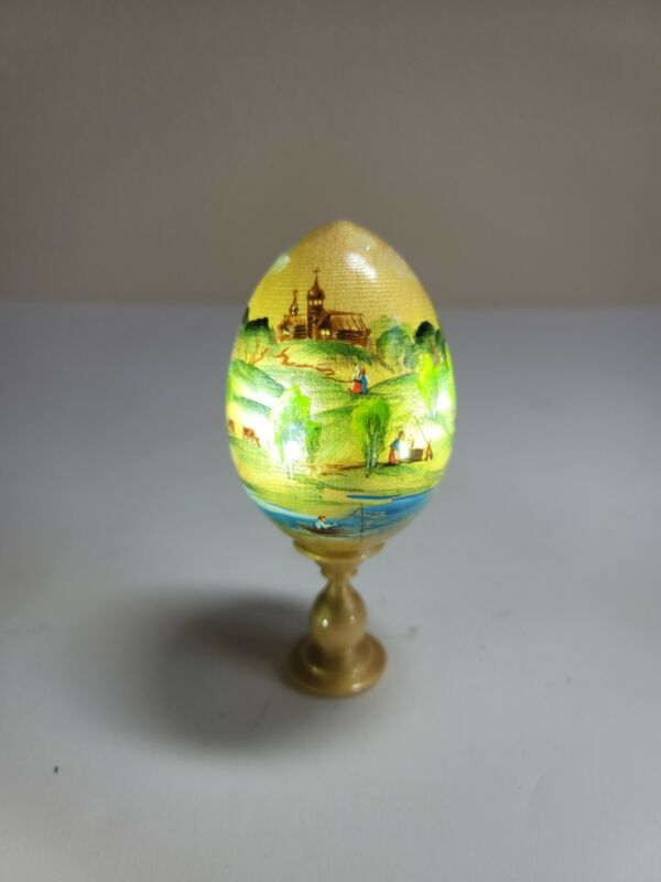 """Russian Egg - 5.5"""" Tall with Stand - *BEAUTIFUL*"""