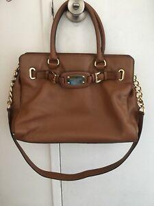 Tan caramel brown Michael Kors handbag