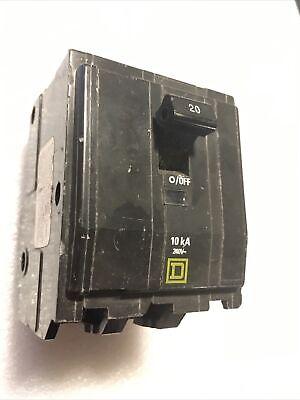 Qob320 Square D 20 Amp 240 V 3 Pole Bolt On Circuit Breaker Chipped A