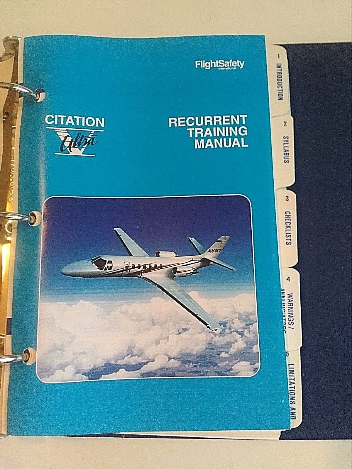Flight SafetyRecurrent Training Manual Citation Ultra