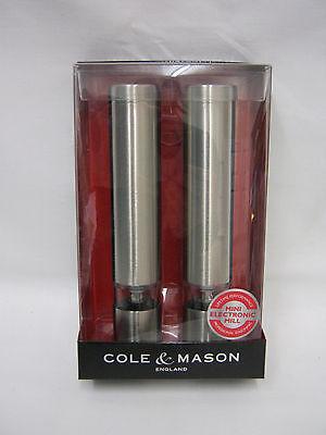 New Cole And Mason Mini Electronic Salt Pepper Mill Set H3057480