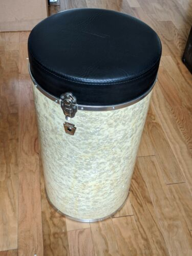 Ludwig USA Canister Throne White Marine Pearl Super Clean Vintage Classic WMP