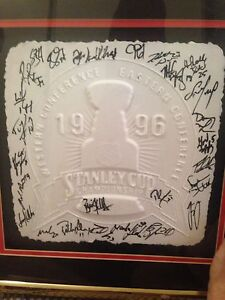 """Florida panthers Team Signed 96"""" conference champions  embossed"""