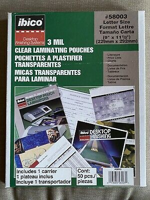 25 Letter Size Laminating Laminator Pouches Sheets 9 X 11.5 - 3 Mil Clear