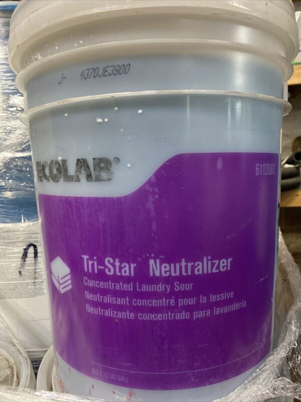 5 US GALLON ECOLAB Tri-Star NEUTRALIZER Concentrated Laundry SOUR Free Shipping