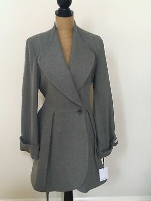 Calvin Klein Wool Coat (Calvin Klein Premium Women New Elegant Grey Textured Wool Coat, Size 10, NWTS  )