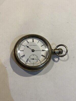 Unique Seth Thomas 15J Nickel Running 18 Size Antique Pocket Watch