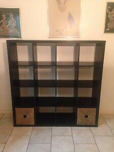 KALLAX EXPEDIT IKEA shelves 4x4 Black with Two KNIPSA inserts Clifton Hill Yarra Area Preview