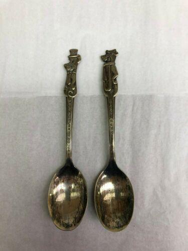 Vintage Set of 2- Silver Plated Old Company, Huckleberry Hound & Yogi Bear