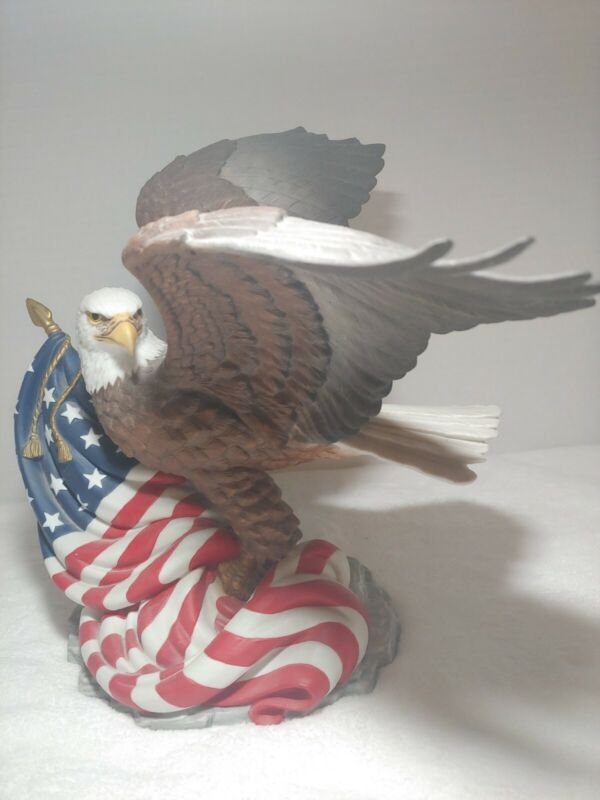 American Bald Eagle Defender Of Freedom Limited Anniversary Edition Lenox 1991