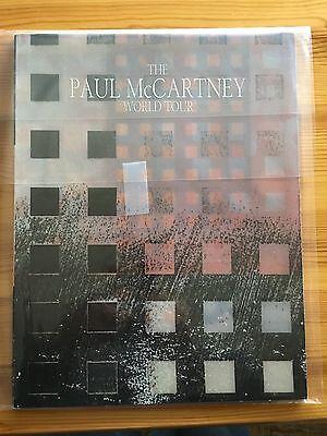 Vintage Paul McCartney Wings Beatles John Lennon World Tour Program 1989 1990