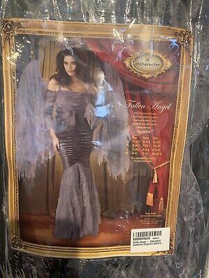 e Fallen Angel Costume Adult Size XL Gown & Wings No Halo (Elite Halo Kostüm)