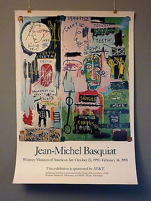 Original JEAN-MICHEL BASQUIAT Exhibition Poster Whitney Museum NY 1992