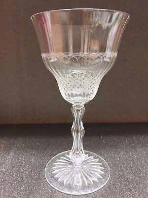 6 verres à vin en cristal Mod.PONTHIER 1904 ct vénitiennes   Val Saint Lambert