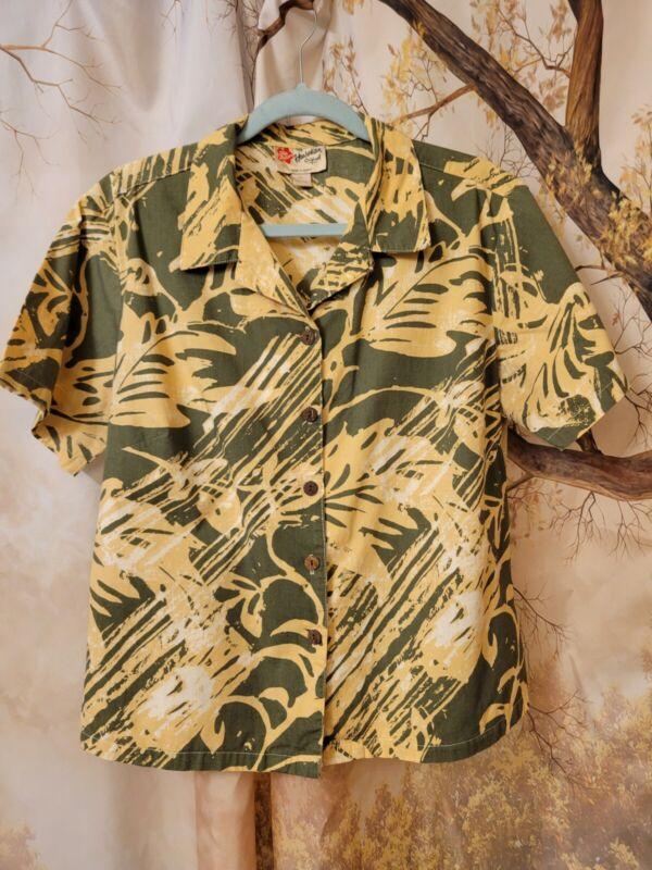 Womans Vintage Hilo Hattie The Hawaiian Original Shirt size XL