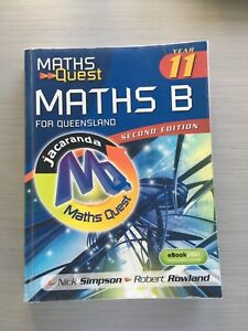 Maths Quest Maths B Year 11 for Queensland - 2nd Edition Textbook