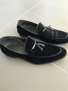 Black Suede 'Dune' size 12 dress loafers Lane Cove West Lane Cove Area Preview